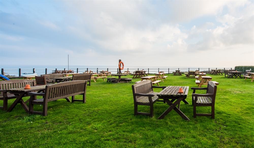 Beer Garden on the Norfolk Coast