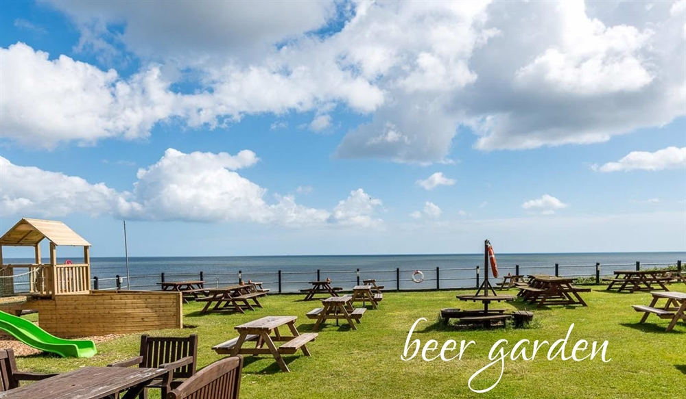 Pub garden with sea views Norfolk