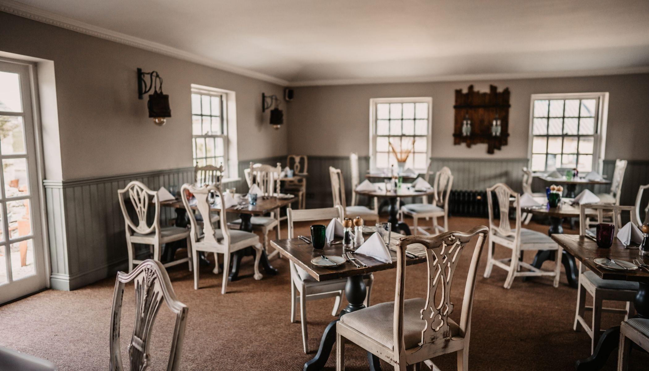 Dining  at Widbrook Grange
