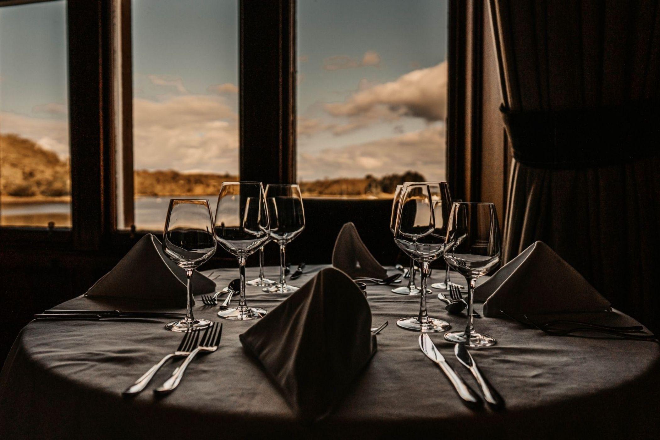Dining  at Shieldaig Lodge