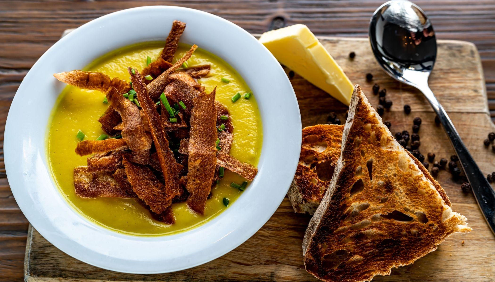 Fresh parsnip soup