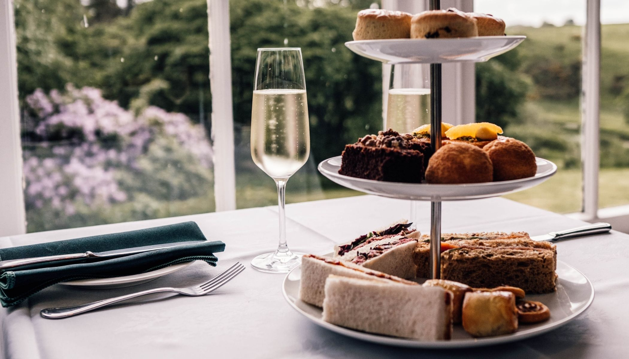 Afternoon tea at Forss House Hotel