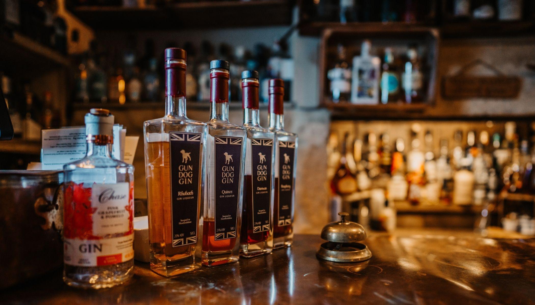 Gin bar in Bradford on Avon