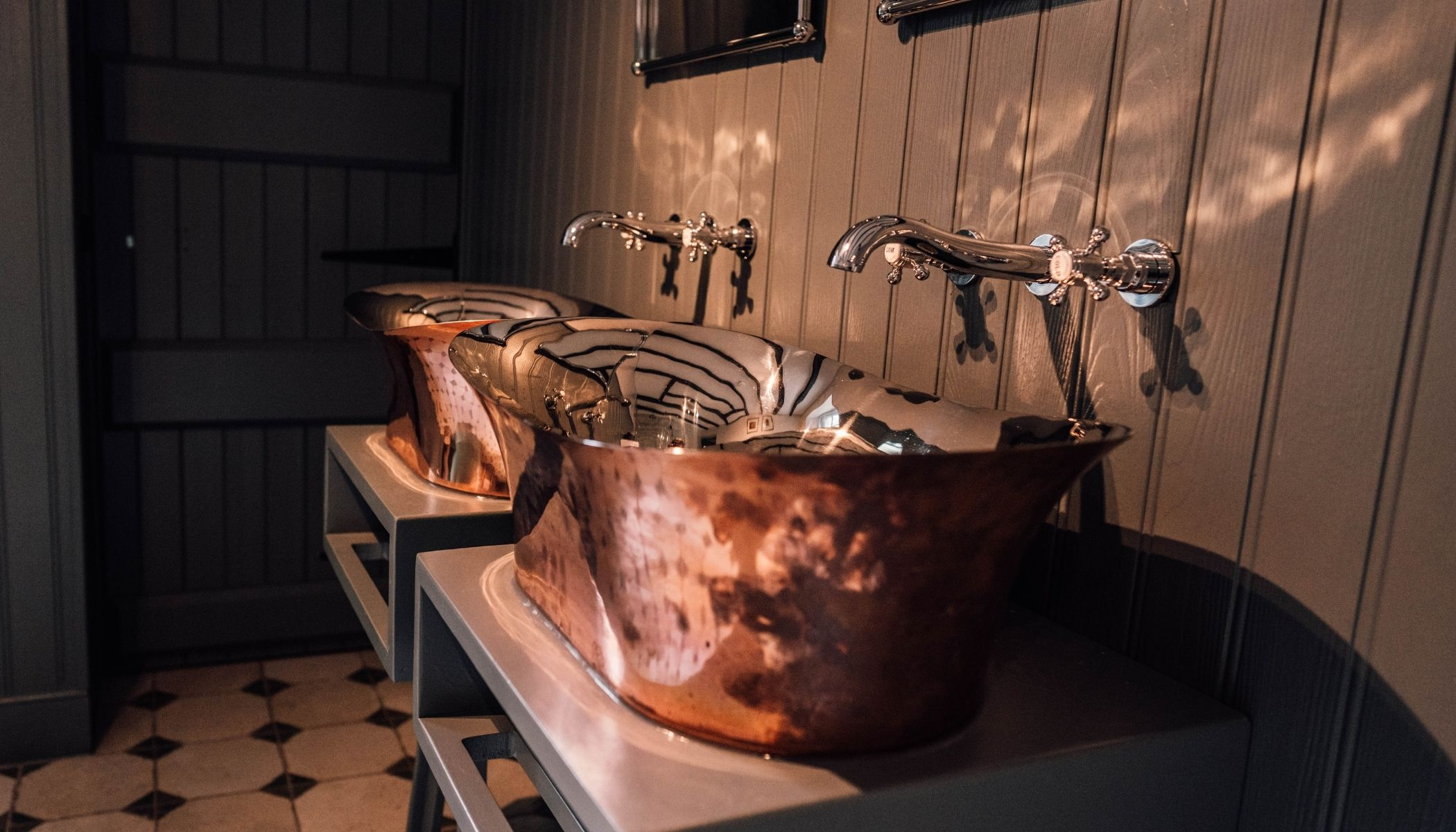 His and Her Copper Sinks