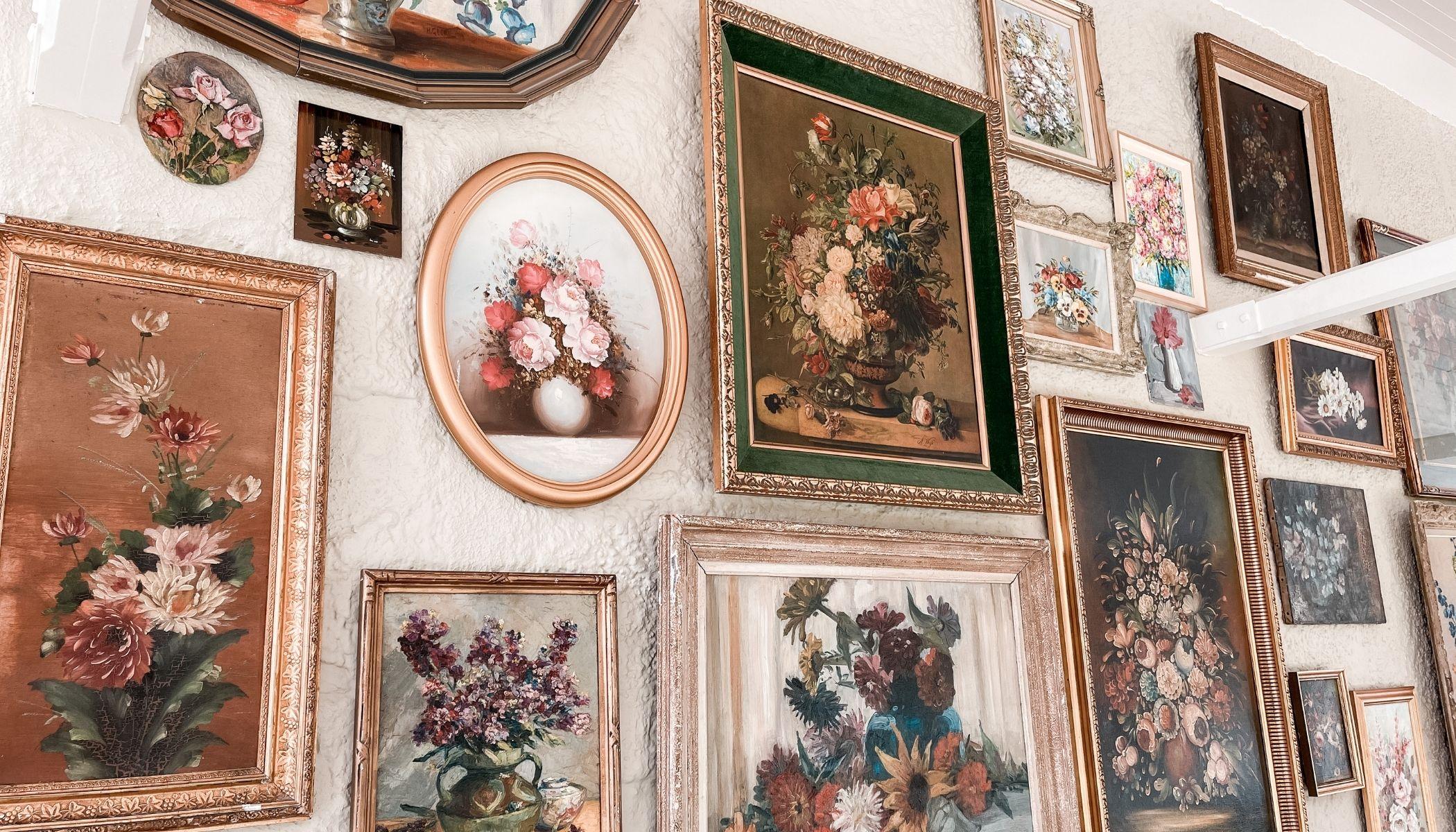 Stunning Flower Wall in Breakfast Room