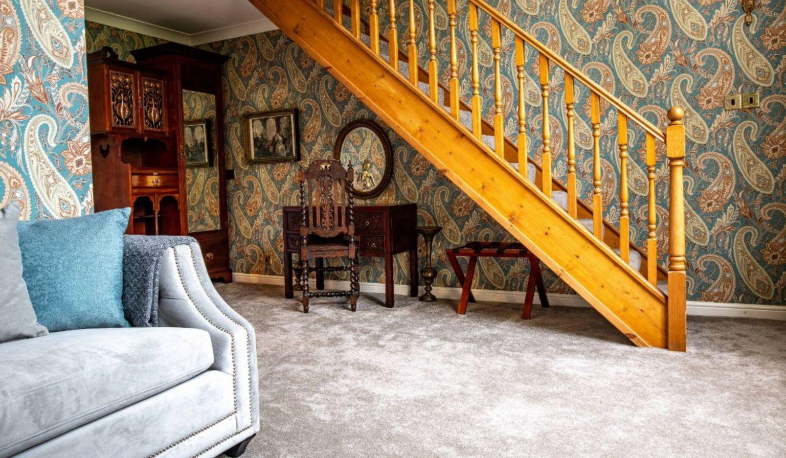 Junior Suite stairs to mezzanine level