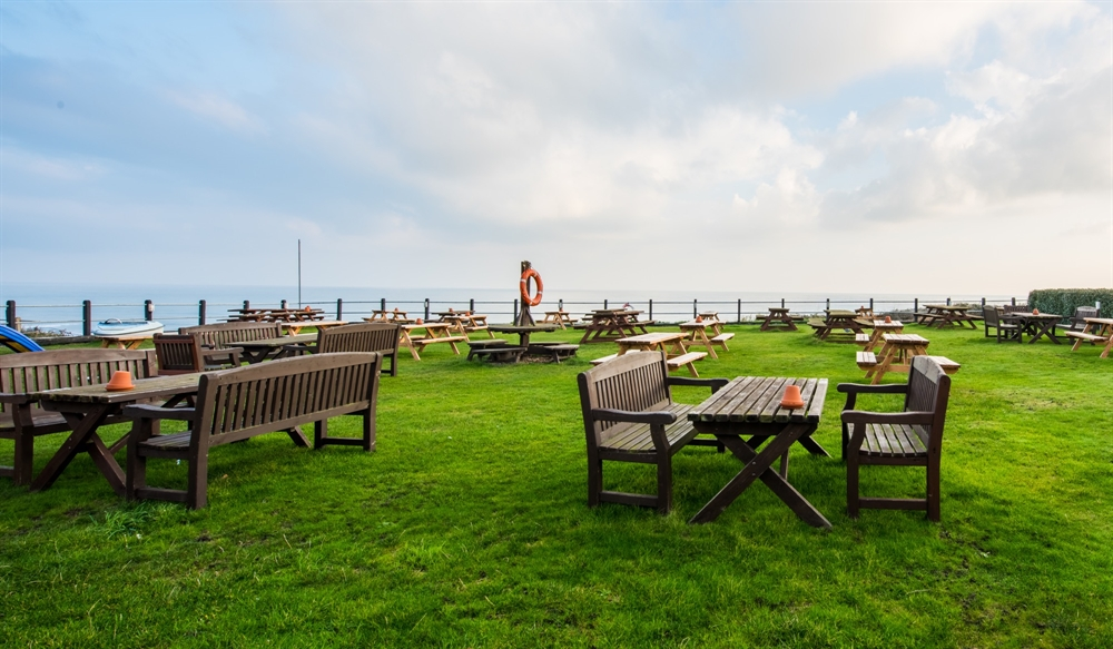 Beer Garden on the Norfolk Coast