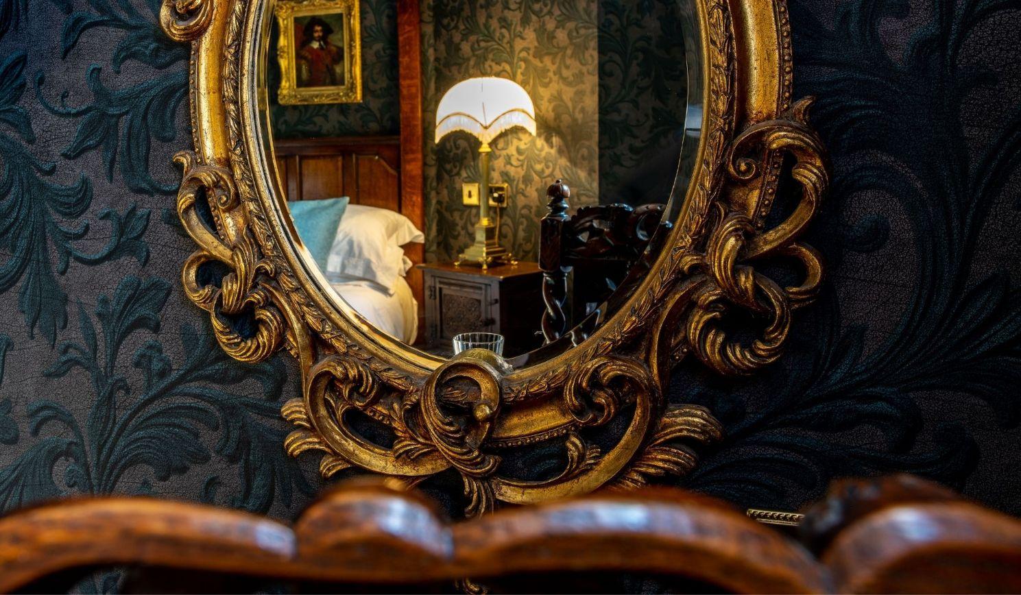 Single bedroom in reflection