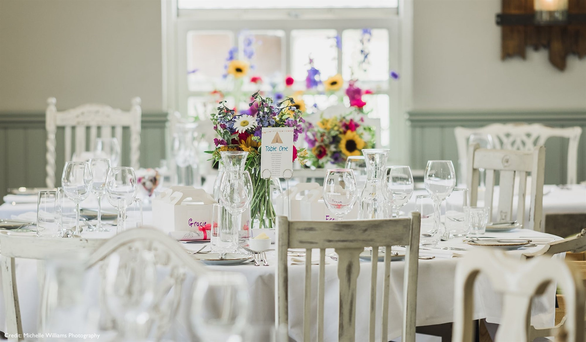 Beautiful country house wedding breakfast