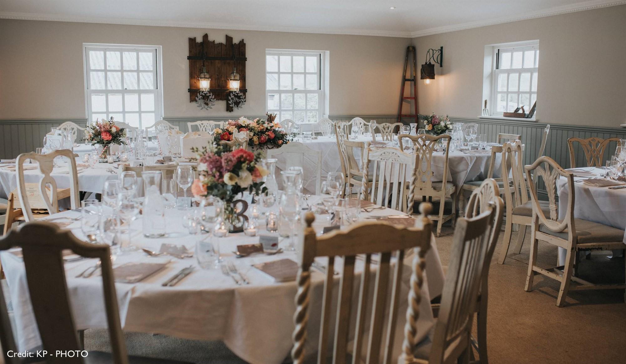 Romantic Wedding Breakfast at Widbrook Grange