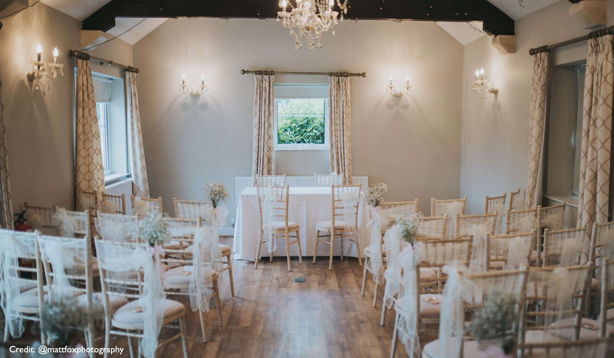 Converted Barn Ceremony Room at Widbrook Grange
